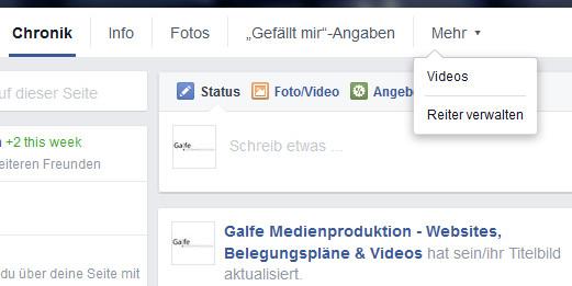 Facebook Seiten-Tab
